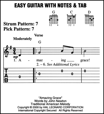 Guitar guitar tablature notes : Acoustic Rock Easy Guitar Notes & Tab Sheet Music Chords ...